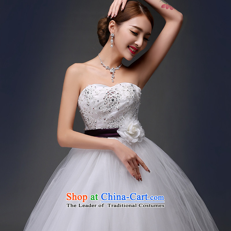 Embroidered Bride Korean-style is retro Deluxe Big tail flowers diamond anointed chest lace princess wedding dresses white L code, Suzhou embroidery brides shipment has been pressed shopping on the Internet