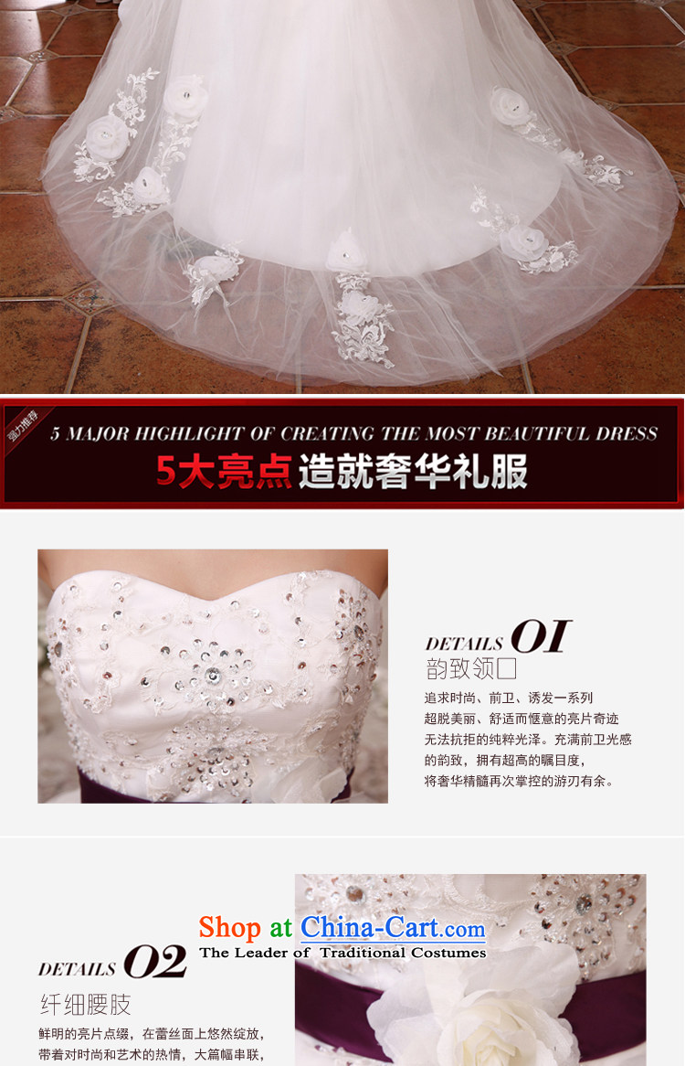 Embroidered Bride Korean-style is retro Deluxe Big tail flowers diamond anointed chest lace princess wedding dresses white L Code Suzhou shipment picture, prices, brand platters! The elections are supplied in the national character of distribution, so action, buy now enjoy more preferential! As soon as possible.