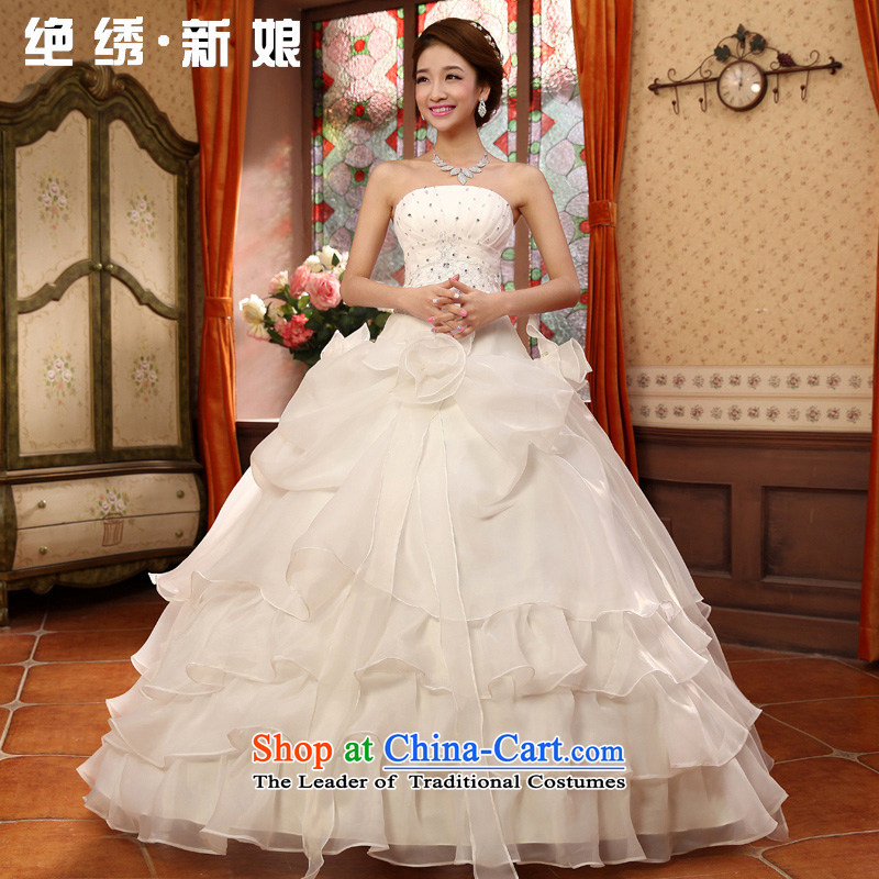 No?new 2015 bride embroidered sweet retro straps and chest wedding dresses to align the Korean Princess wedding white form do not return