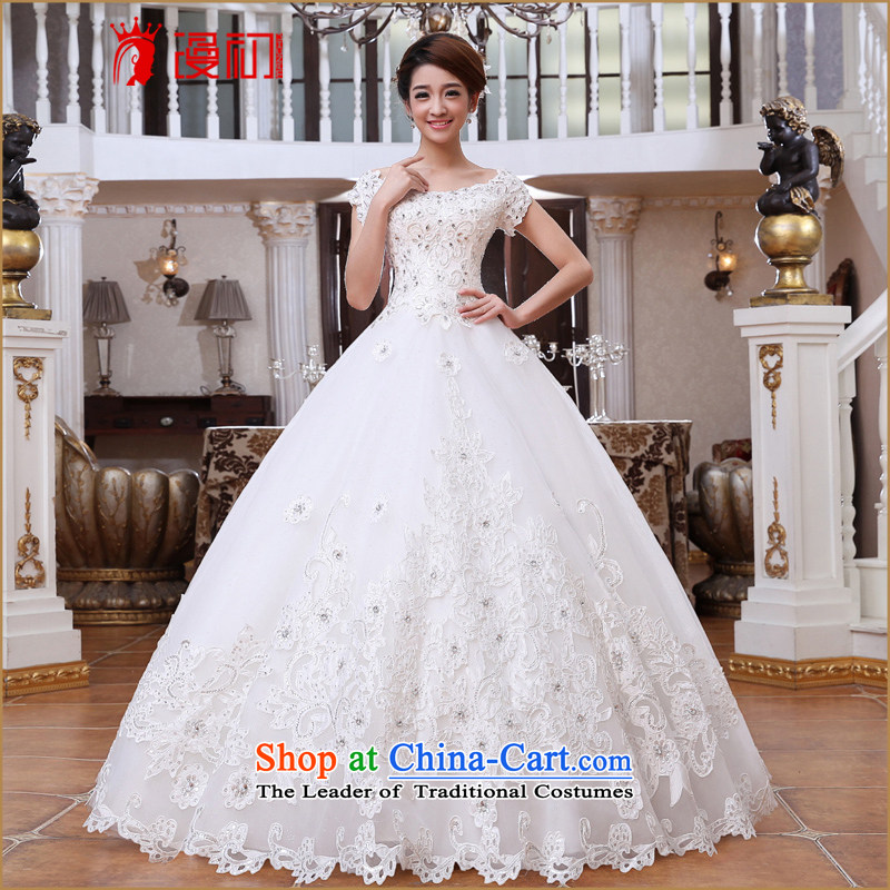 In the early 2015 new definition of Korean Version to align the thin bride wedding slotted shoulder princess bon bon skirt to align the wedding of S