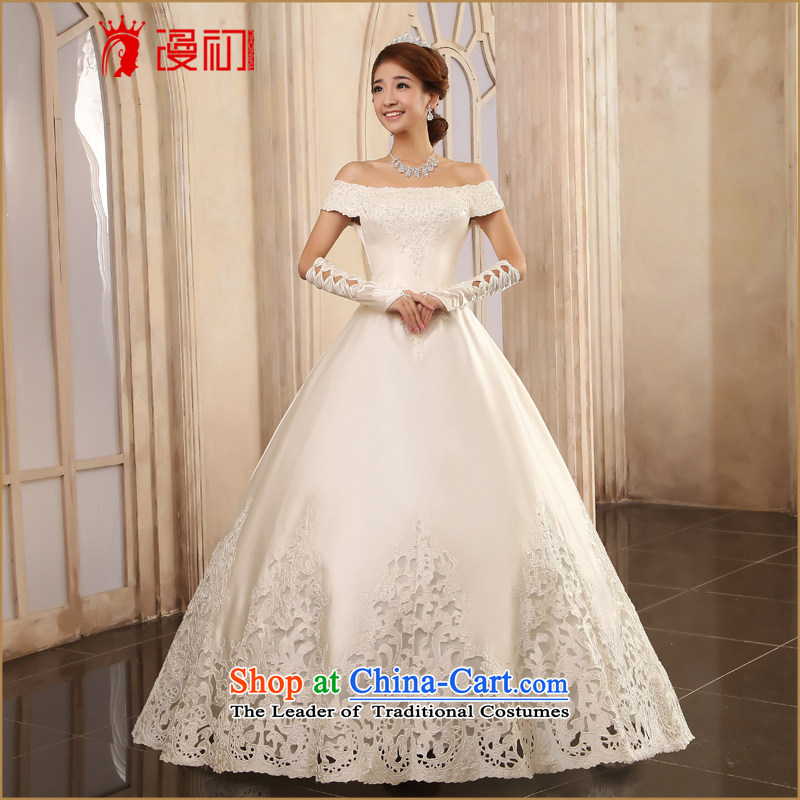The beginning of the Korean version of Castores Magi wedding dresses highstreet import car satin flower to align the bone wedding dresses 2015 New White make contact customer service