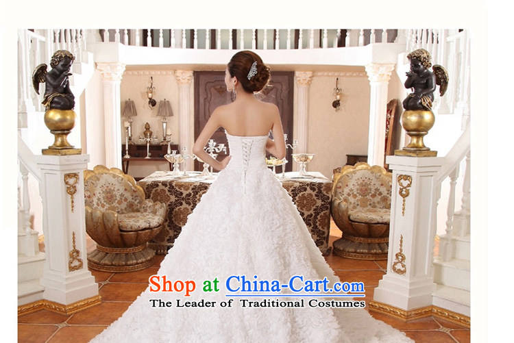 In the early 2015 new man bride wedding long tail Korean lace large tail deluxe tail wedding dresses white聽pictures, price S code, brand platters! The elections are supplied in the national character of distribution, so action, buy now enjoy more preferential! As soon as possible.