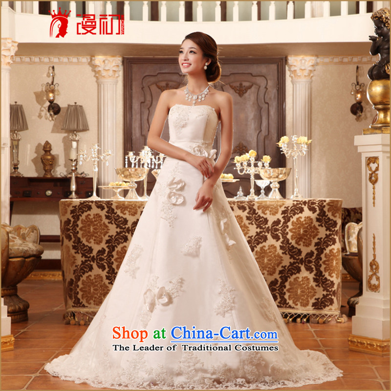In the early 2015 new man wedding wiping the chest small trailing bride wedding elegant and stylish spring and summer wedding White M strap) code