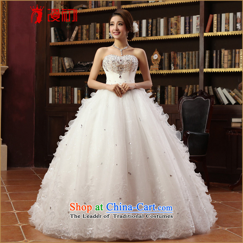 In the early 2015 new man wedding Korean won to his chest and edition wedding princess bon bon skirt deluxe wedding dresses drill white?S