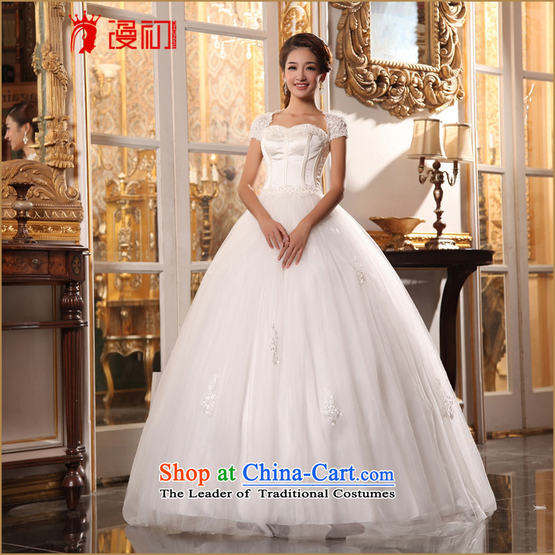 In the early 2015 new definition of Korean brides package shoulder elegant lace wedding slotted your shoulders to marry wedding white?L