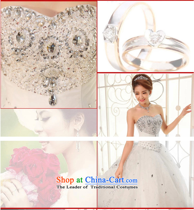 At the beginning of the New Year 2015 diffuse wedding dresses and chest Korean Deluxe Big tail wedding exclusive drill length trailing white聽L wedding pictures, prices, brand platters! The elections are supplied in the national character of distribution, so action, buy now enjoy more preferential! As soon as possible.