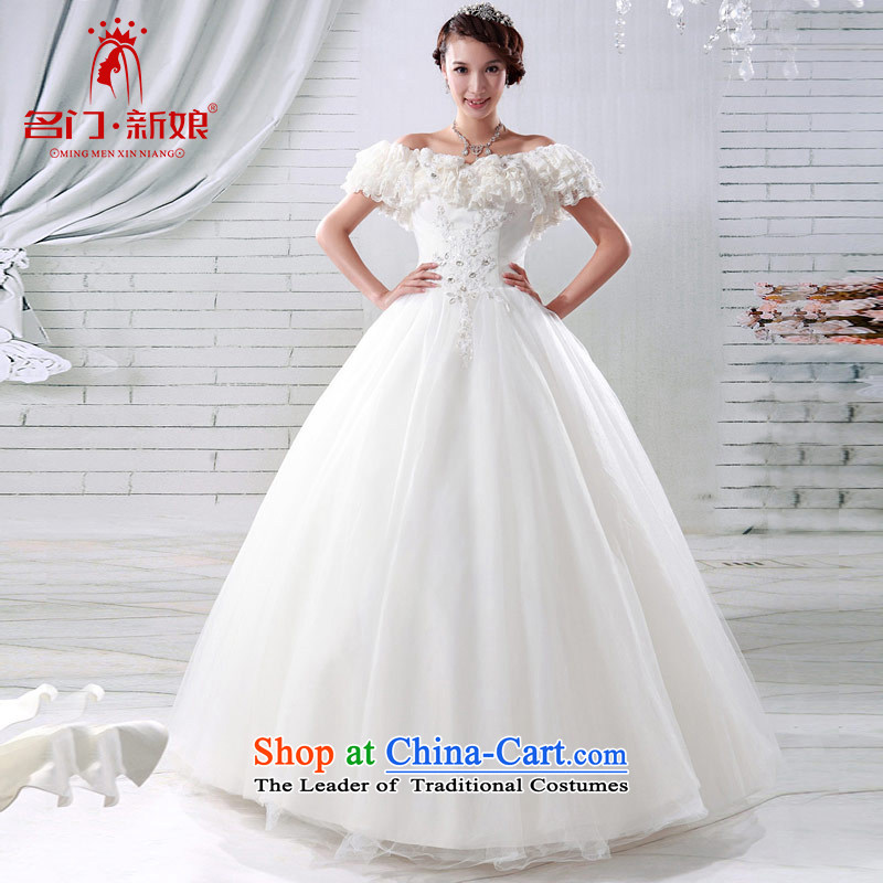 A bride wedding dresses Korean sweet Princess Wedding 2015 new deluxe one field shoulder wedding 921 S