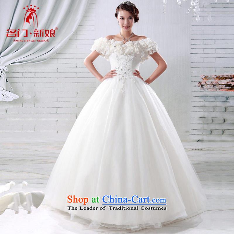 A bride wedding dresses Korean sweet Princess Wedding2015 new deluxe one field shoulder wedding 921 S