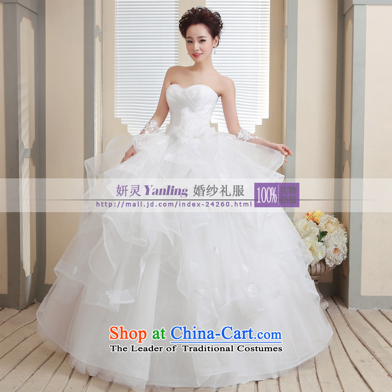 Charlene Choi Ling /YANLING Korean anointed chest bride wedding dresses and elegant with?14007, Waziriya?white customization