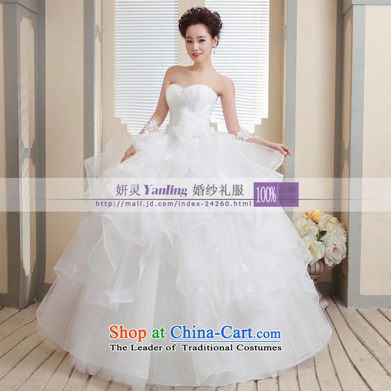 Charlene Choi Ling /YANLING Korean anointed chest bride wedding dresses and elegant with14007, Waziriyawhite customization