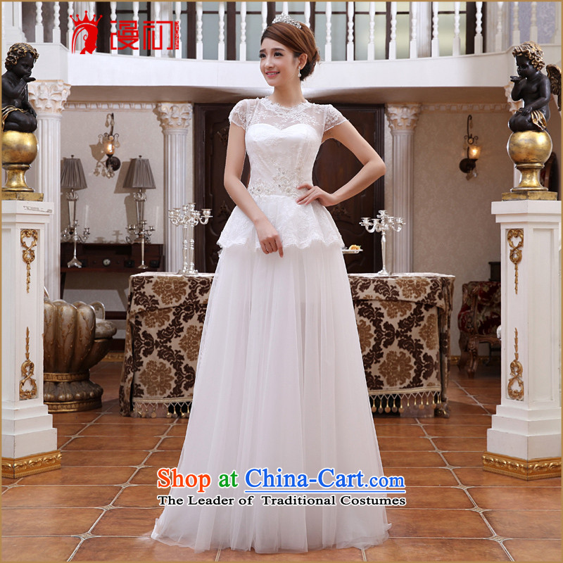 In the early 2015 new man wedding two Korean wears the Korean version of the Princess Bride Removable Tail wedding dresses and drag to contact Customer Service