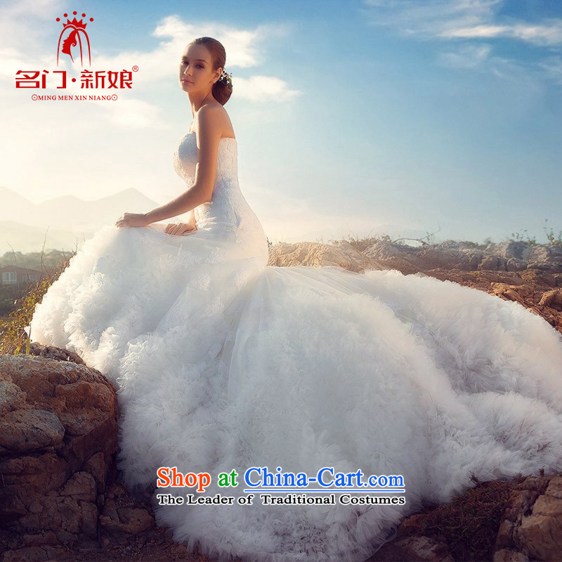 A bride wedding dresses 2015 new wedding clouds large tail petticoats lace A521 L