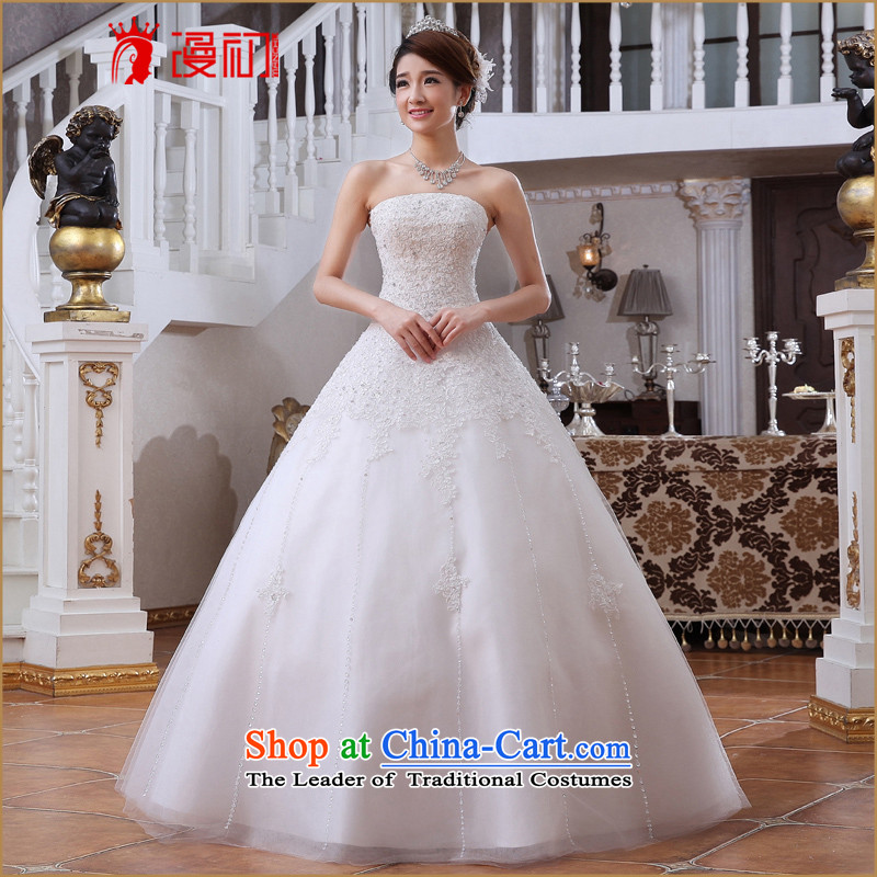 In the early 2015 new man wedding marriages wedding Korean Princess lace wiping the chest to a swing wedding White?M