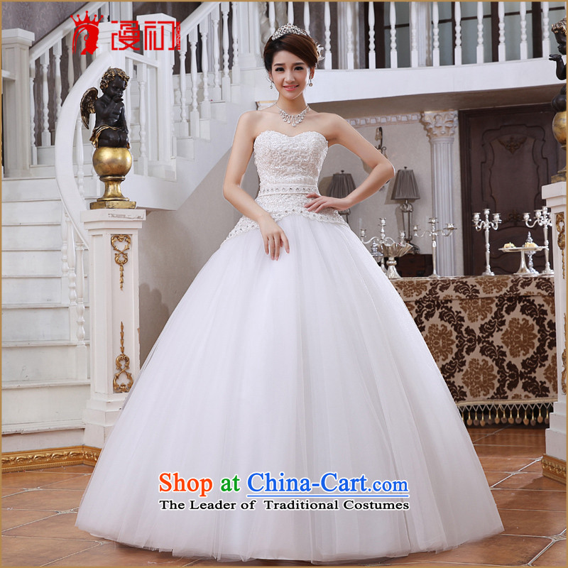 At the beginning of the New Year 2015 Castores Magi video thin wedding dresses Korean anointed chest to marry a swing video thin wedding white�L