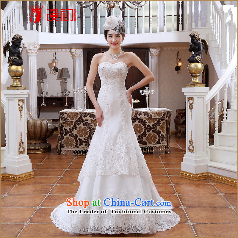 At the beginning of the New Year 2015 spread small trailing princess marriage wedding Korean anointed chest sweet graphics thin wedding trailing white�S