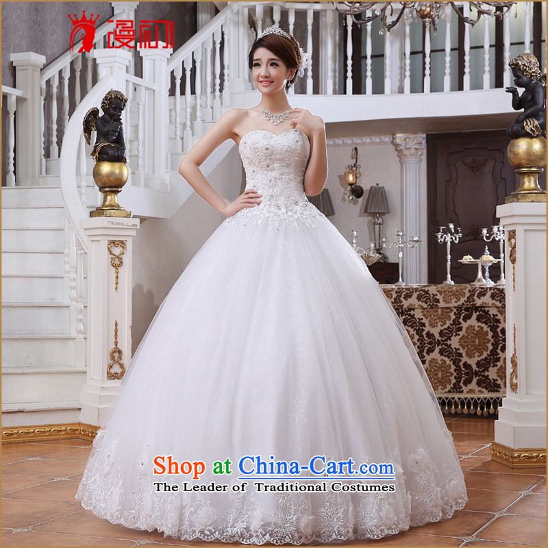 At the beginning of the New Year 2015 diffuse wedding dresses Korean brides align with Chest ( ), Sau San video thin spring and summer wedding white�L