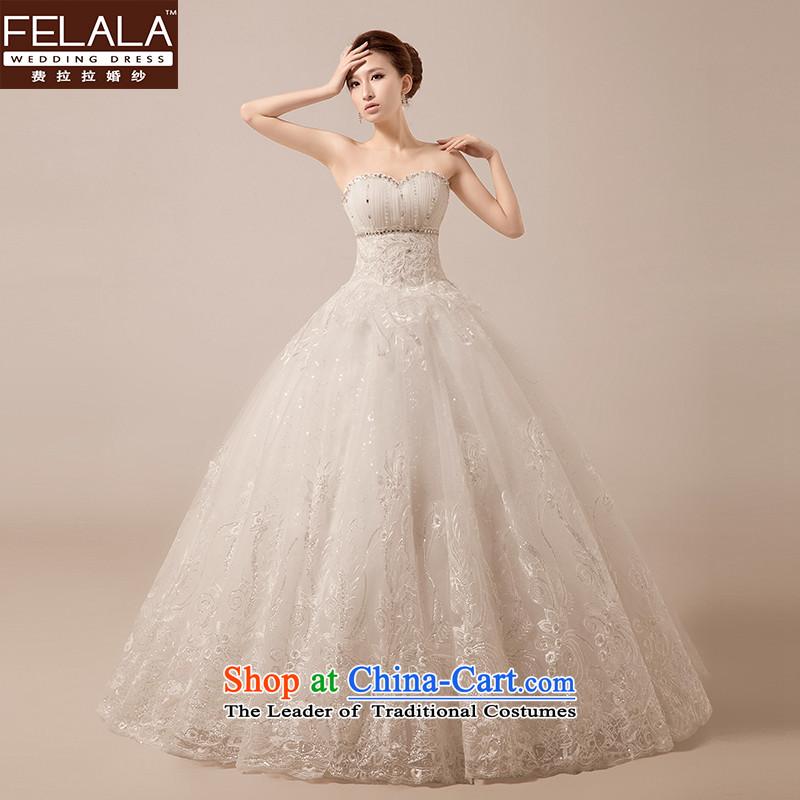 Ferrara�2015 new Korean style of a cardioid anointed chest wedding bride white film lace bon bon yarn large spring�XL�Suzhou Shipment