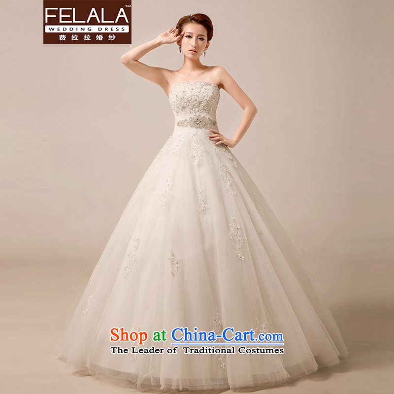 Ferrara 2015 new luxury diamond jewelry palace wedding Korean anointed chest lace A swing bon bon skirt foreign trade process large winter wedding M Suzhou Shipment