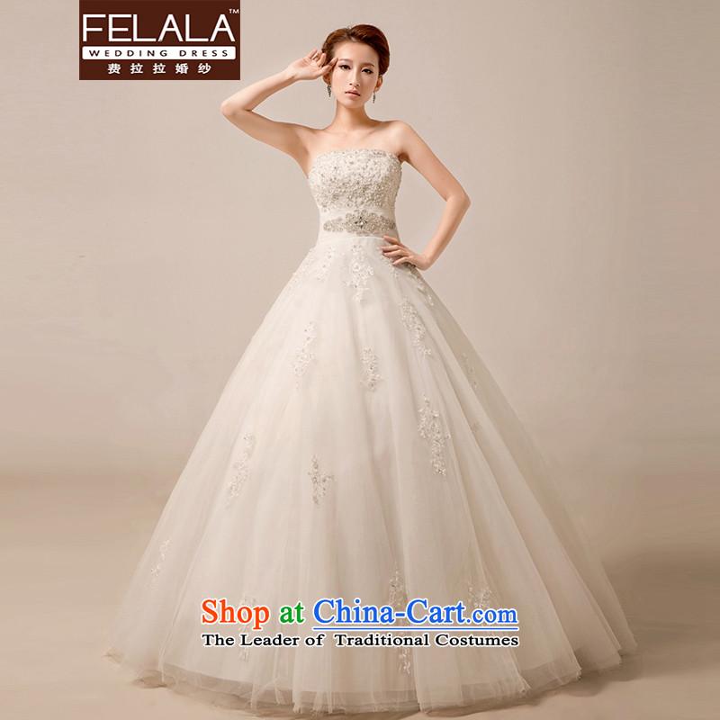 Ferrara2015 new luxury diamond jewelry palace wedding Korean anointed chest lace A swing bon bon skirt foreign trade process large winter weddingMSuzhou Shipment