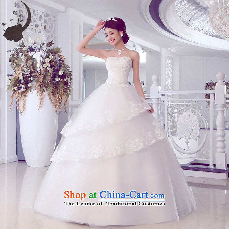 The leading edge of the days of the wedding dresses alignment with chest, Japan and the Republic of Korea 2015 new lace wedding dress 109 White M