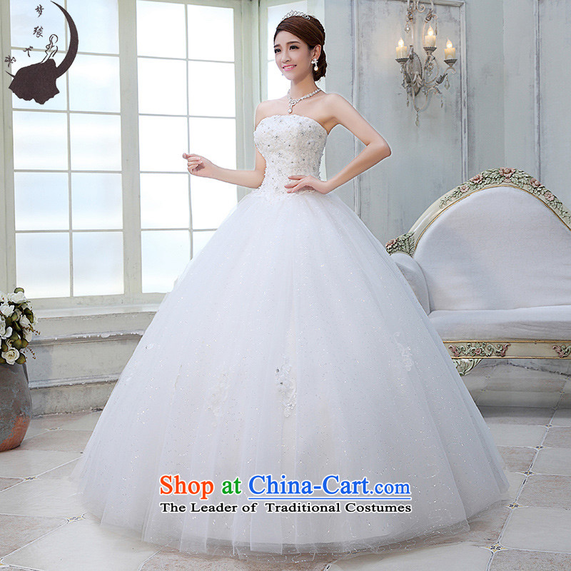 The leading edge of the days of the wedding dresses 2015 new Korean White Princess Mary Magdalene chest to wedding 1555 White L