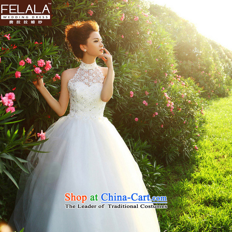 Ferrara marriages 2015 new large Korean history retro lace hangs high waist wedding dresses spring white?S?Suzhou Shipment