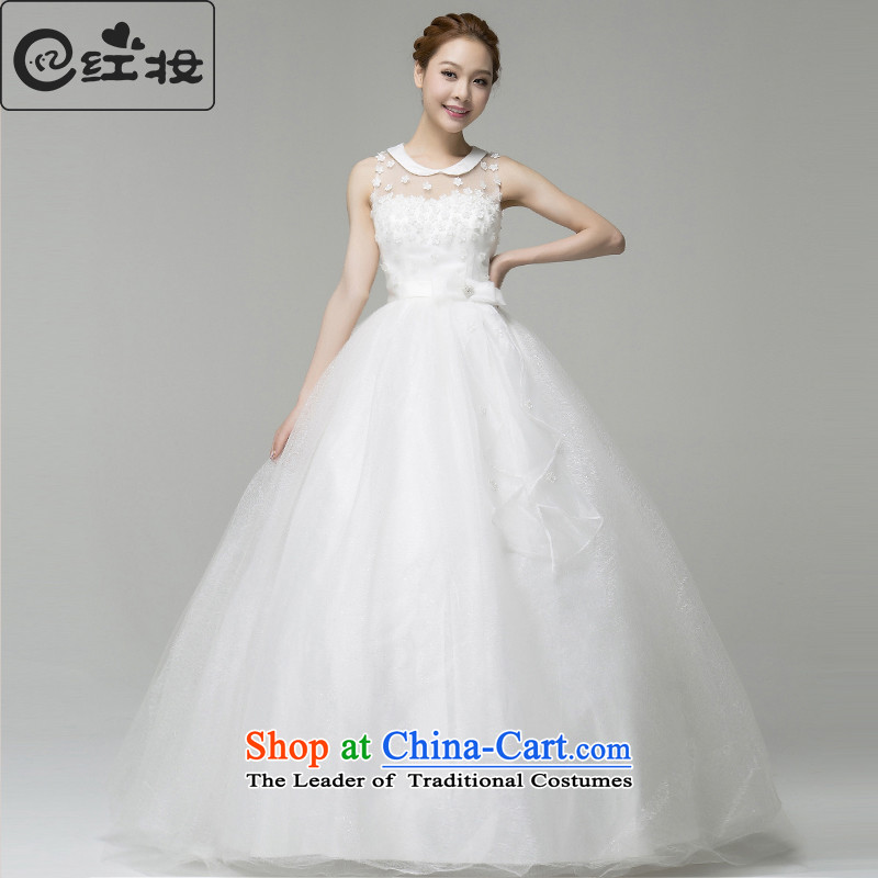 Recalling that the 2015 summer, hates makeup and a field to align the shoulder Korean Bridal Suite White Lace shoulders of nostalgia for the bridal doll collar H13734 white?L
