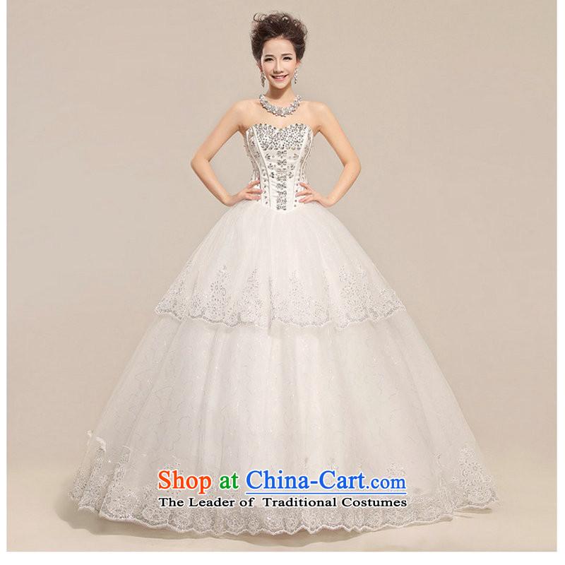 Naoji a new spring 2014 Ultra graphics thin diamond touching the princess luxurious wedding QQC1001 white�S