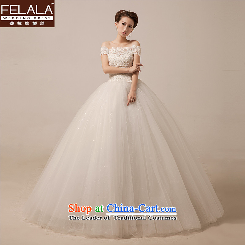 Ferrara 2015 new sweet word shoulder wedding Korean Princess lace video thin bon bon yarn stars of the same white S Suzhou Shipment
