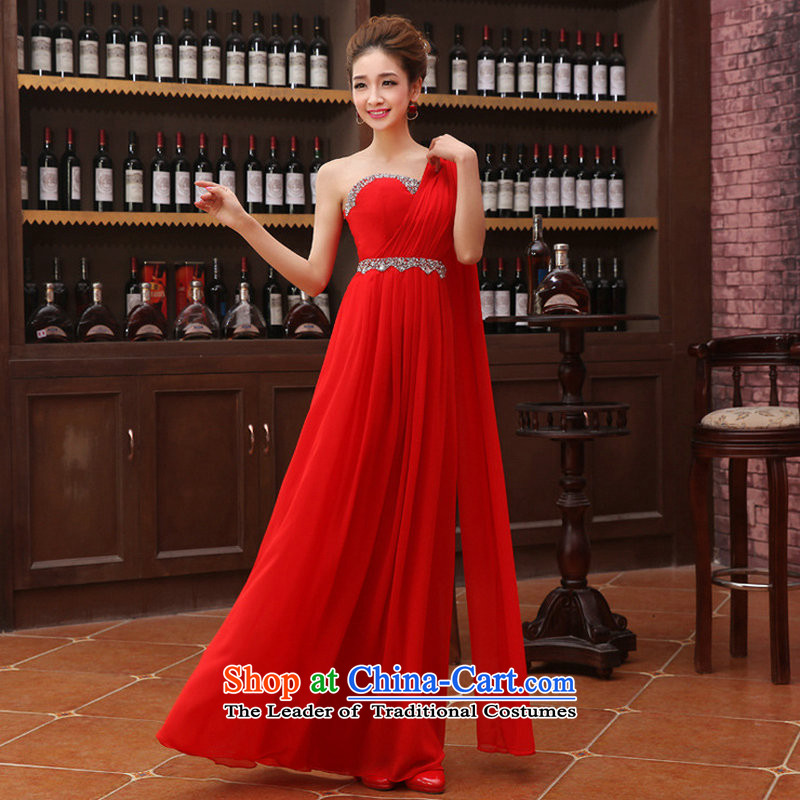 There is also a grand new optimized version of Flash drill won Beveled Shoulder dress bows services upscale chiffon evening dresses XS1068 RED?XXL