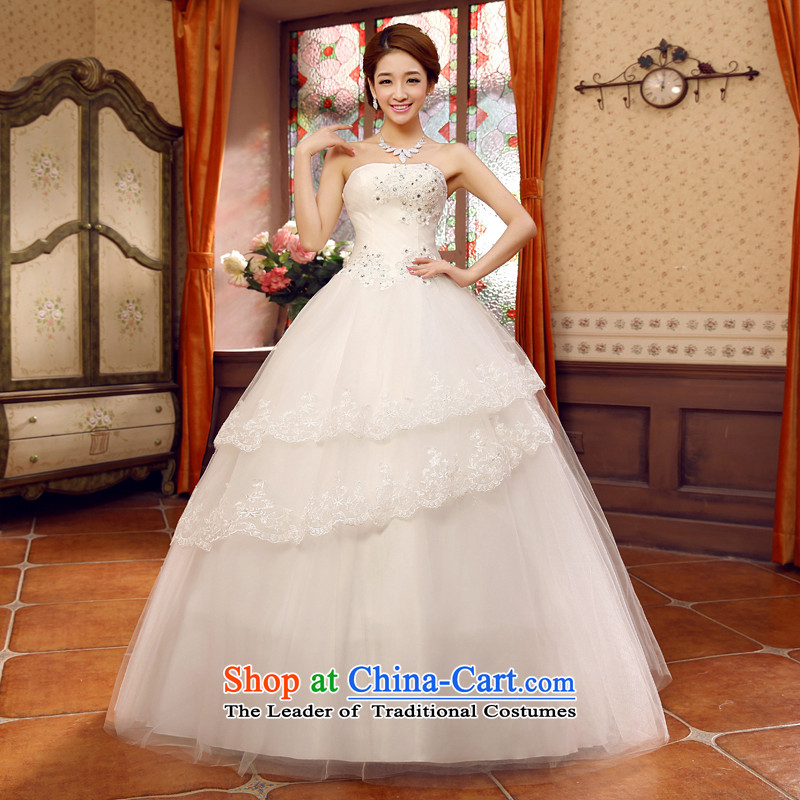 Shared the new bride guijin Keun-young wedding dress to align the irrepressible bon bon wedding hs109 m White XL code from Suzhou Shipment