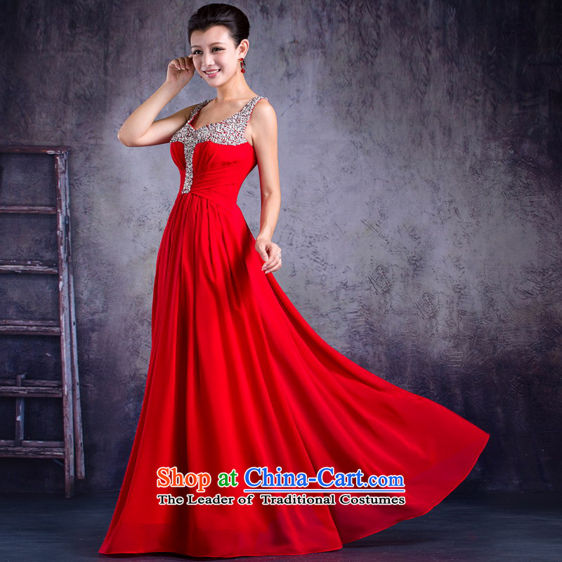 Mrs Alexa Lam roundup new 2014 evening dresses shoulder straps long gown 33262 marriages banquet RED?M waist 2.2)