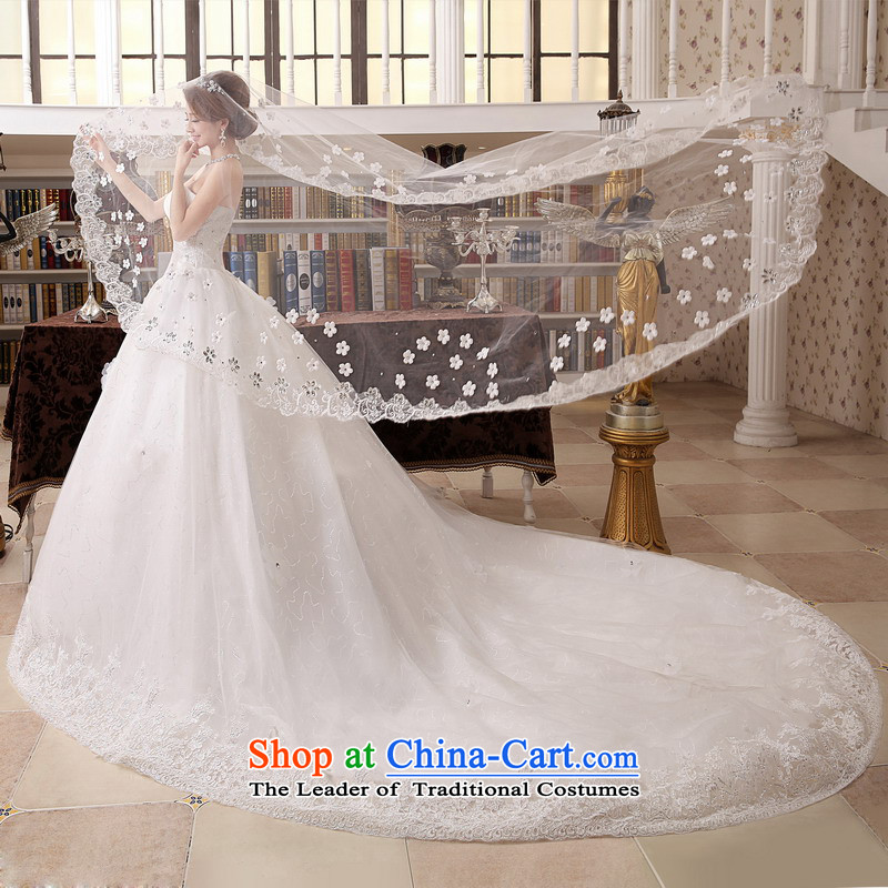 Mrs Alexa Lam roundup wedding dresses new 2014 strap tail Korean wiping the chest straps marriages wedding dresses 15981 white聽L_2.4_ pre-sale within a week shipment