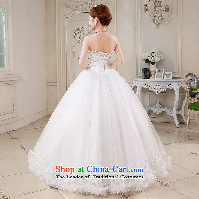 No new 2015 bride embroidered spring and summer Korean wiping the chest straps to align the diamond wedding dresses marriages White XXL code suzhou embroidery brides, shipment has been pressed shopping on the Internet