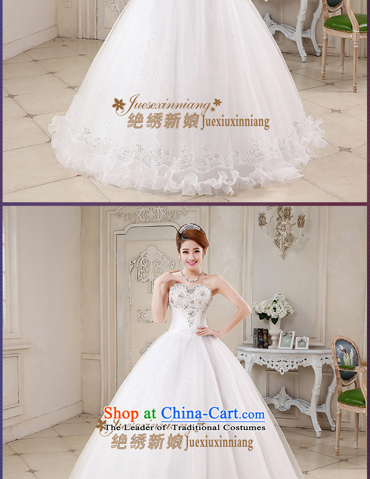 No new 2015 bride embroidered spring and summer Korean wiping the chest straps to align the diamond wedding dresses marriages White XXL Code Suzhou shipment picture, prices, brand platters! The elections are supplied in the national character of distribution, so action, buy now enjoy more preferential! As soon as possible.