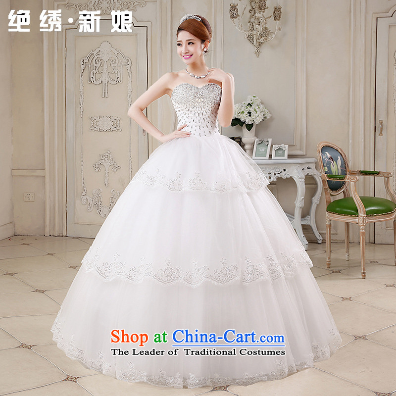2015 new diamond Luxury depilation chest straps wedding dresses lace princess to align graphics thin diamond jewelry bride wedding Bride With White?M Code Code Suzhou Shipment