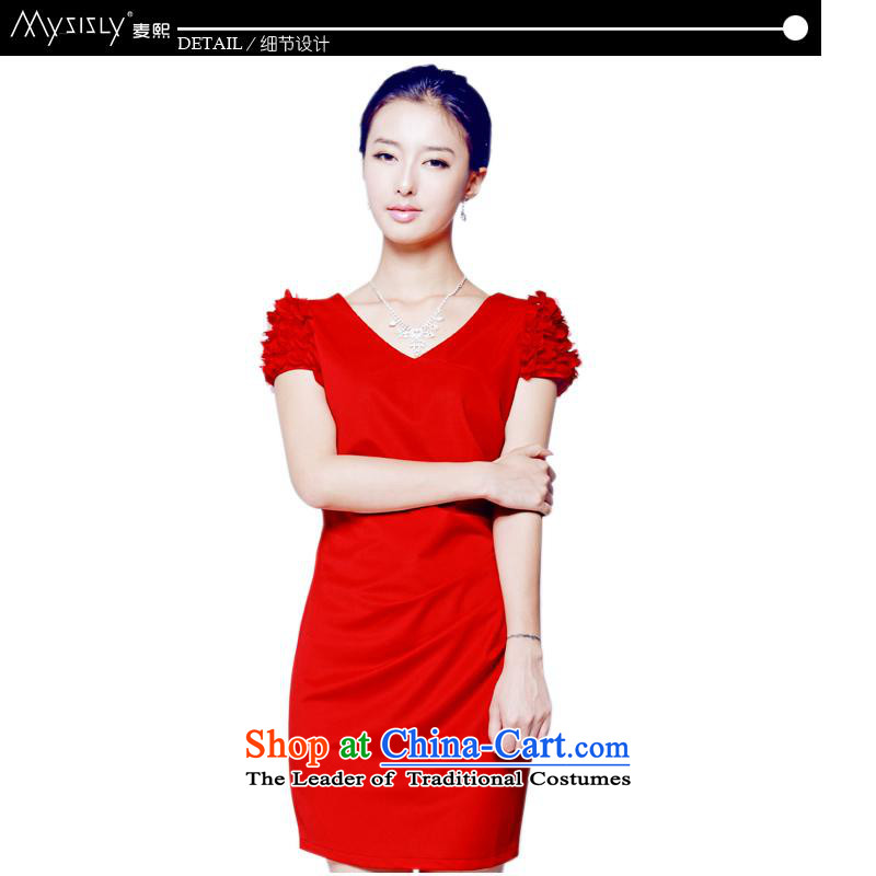 Mak-hee of the new Marriage 2014 Red Dress Short, bows to Sau San Korean wedding dress bride?M/160 red