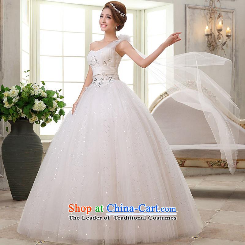 Mrs Alexa Lam roundup wedding dresses new 2014 to align the shoulder bon bon skirt ribbons elegant wedding gown 66382 Graphics thin whiteM(2.2)