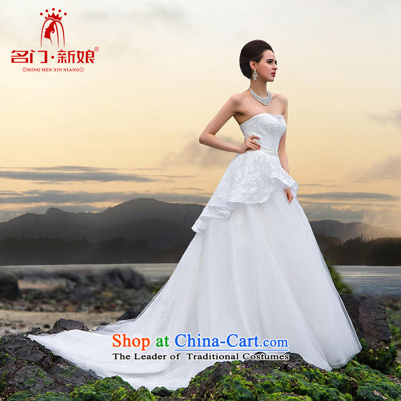 A�new bride 2015 tail wedding luxury of drill manually lace tail wedding video thin A536 S
