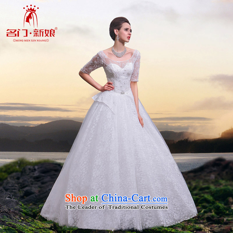 The two men?, in 2015, the new bride cuff lace wedding video word thin shoulders bon bon princess wedding A523 L