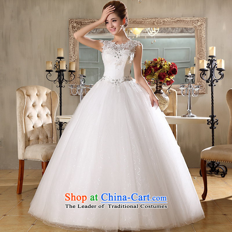 Mrs Alexa Lam roundup bride lace shoulders wedding dresses?2014 new modern Korean align 66882?S(2.0) White