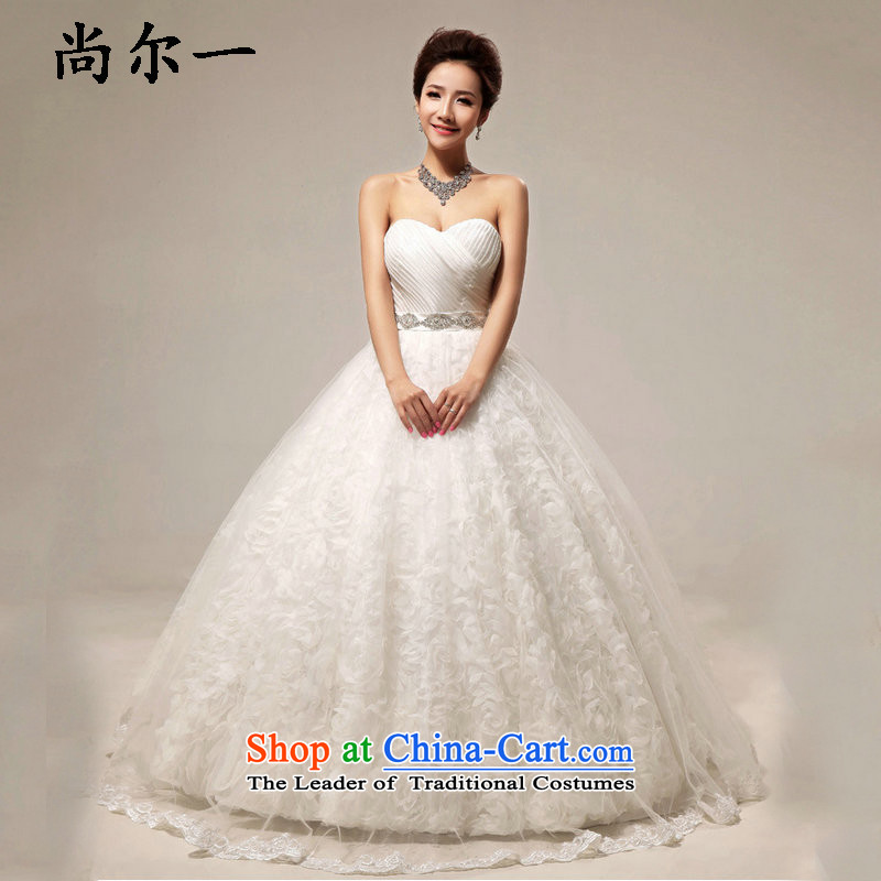 Yet, a new paragraph angel pure color and chest to align the diamond wedding XS7105 bon bon m White�M