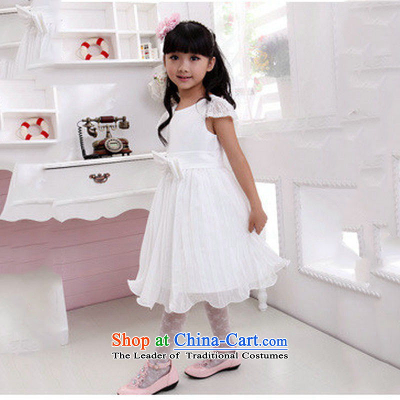 Yet, a new paragraph kidswear wedding will bon bon Flower Girls dress dresses XS1029 White?2 code