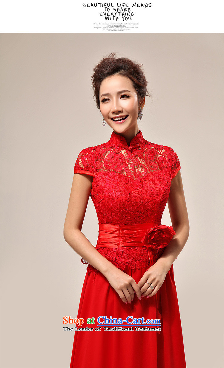 Naoji new luxury sexy word shoulder red lace bride wedding dress XS7106 RED L picture, prices, brand platters! The elections are supplied in the national character of distribution, so action, buy now enjoy more preferential! As soon as possible.