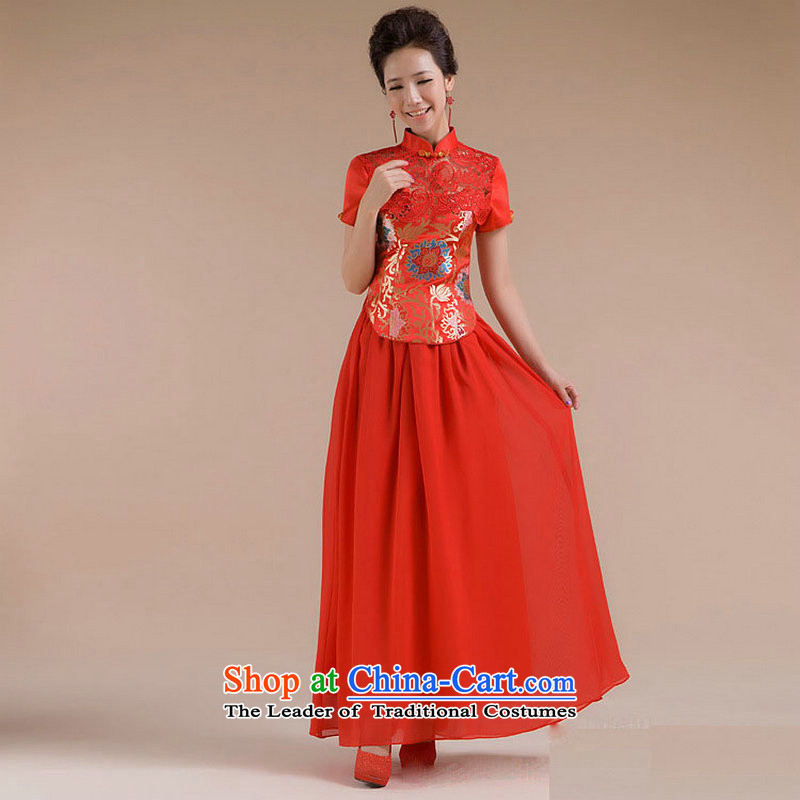 Yet, a new paragraph should also Fine Pattern Short Sau San tulle dress suit XS7109 RED?M