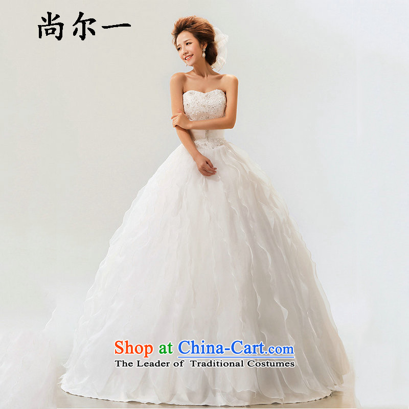 Yet, a new paragraph Korean stylish Sweet strap marriages wedding dresses XS7111 m White?S