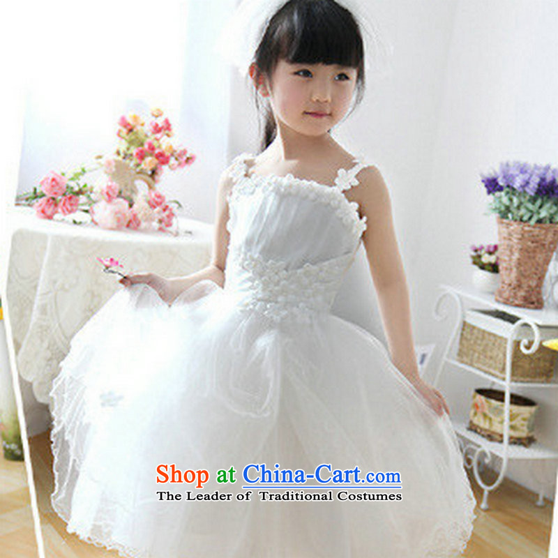 Yet, a flower girls dress children age girls skirt princess dresses bon bon skirt children performances showing XS1028 dress uniform white�10 Code