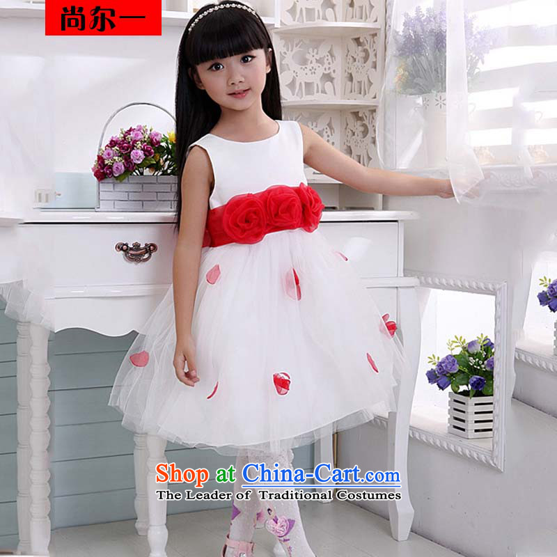 Naoji a child performances of children's wear skirts dress dances to Snow White Dress bon bon skirt XS1025 White?2 code