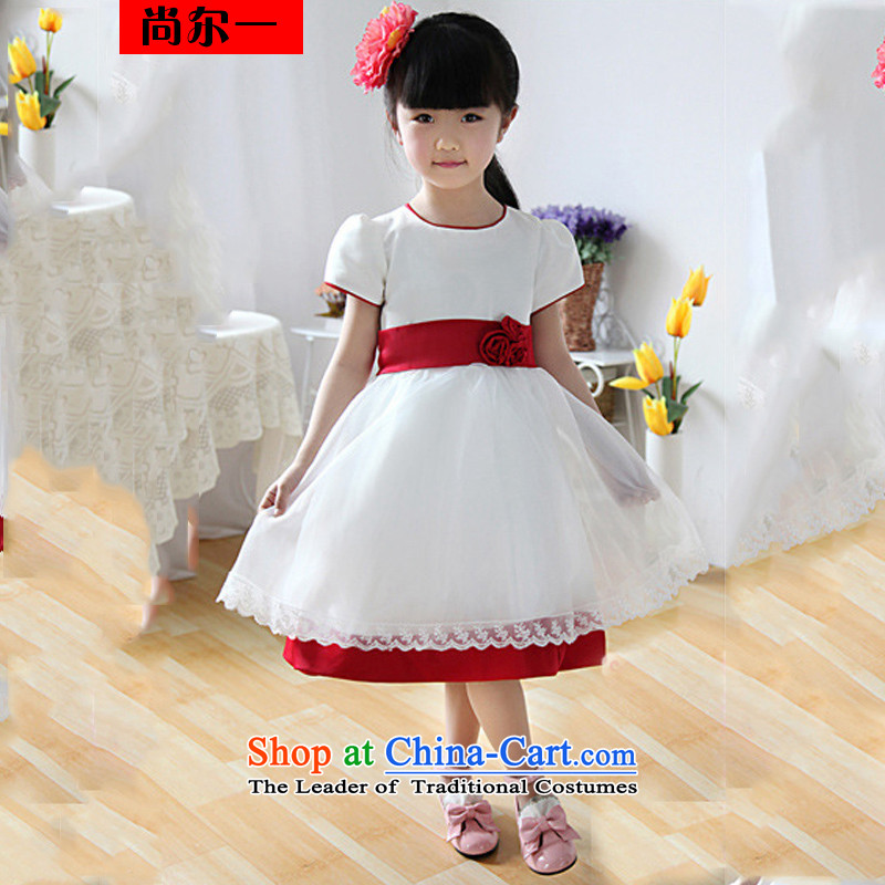 Yet, a new paragraph Korean Flower Girls skirt princess skirt wedding dress dress skirt XS1022 White?6 yards