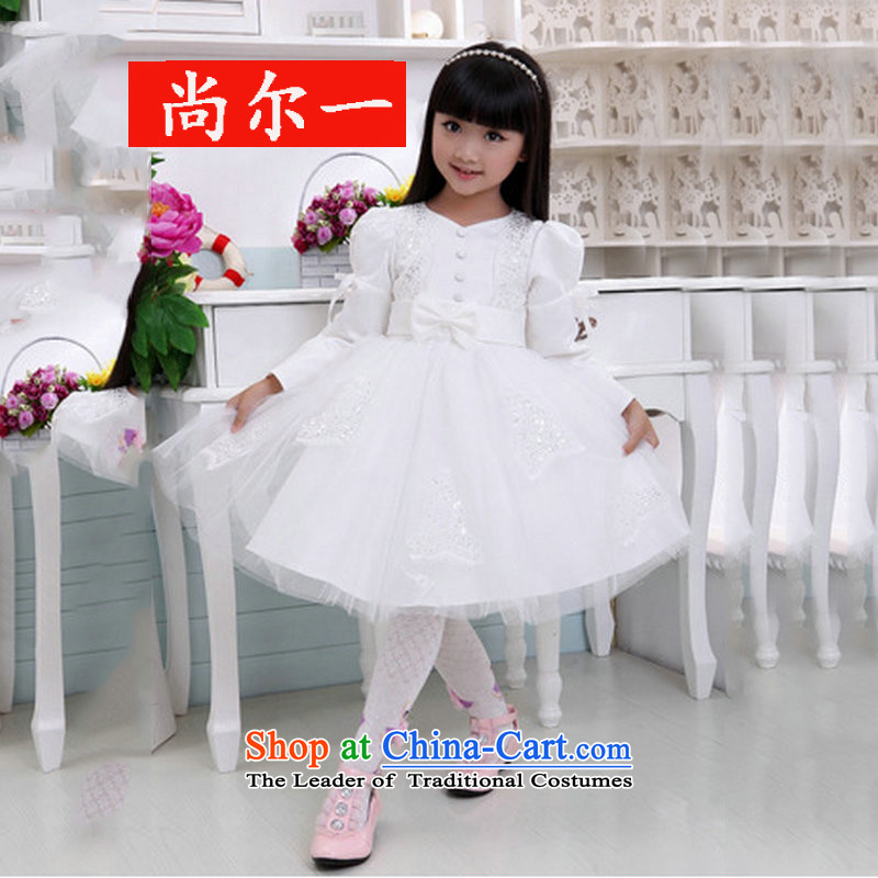 Yet, a new paragraph children wedding dresses will birthday skirt Flower Girls dress XS1023 White?8